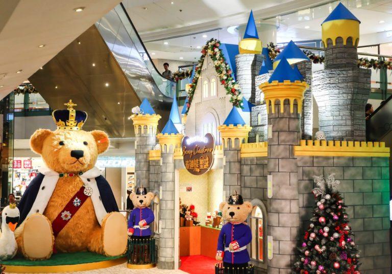 德福廣場:4米高泰迪熊陪你過聖誕