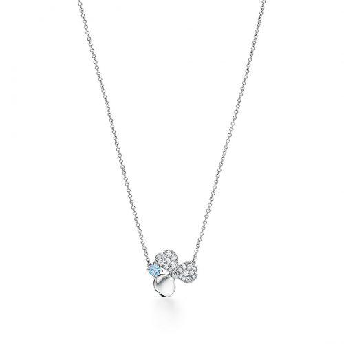 Tiffany&Co.海藍寶石花朵項鍊